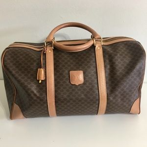 Authentic CELINE Coated Canvas Travel bag